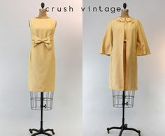 60s Emma Domb Dress and Coat S / 1960s Mod Shift by CrushVintage