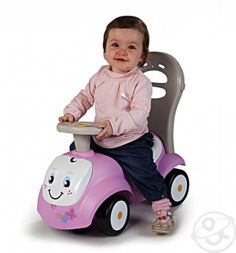 Каталка-трансформер Smoby Maestro, цвет: розовый/белый - купить в Дочки-Сыночки