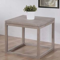 @Overstock.com - Studio Dove Finish End Table  - Add a simple, modern accent to any space with this beautiful end table. This table has a soft dove finish to complement modern decor.   http://www.overstock.com/Home-Garden/Studio-Dove-Finish-End-Table/8066551/product.html?CID=214117 $121.49