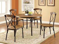 Furniture of America Rizal 5-Piece Industrial Style Round Dining Set Furniture of America http://www.amazon.com/dp/B00TS64HTM/ref=cm_sw_r_pi_dp_Wo4Pwb030ST05