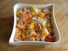 Salade riz maïs surimi tomate