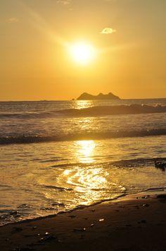 Sunset from the beach near Ballena Beach Club, Uvita, Costa Rica.