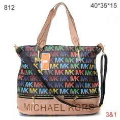 My Favorite Style,Michael Kors Classic Tote,Michael Kors Classic Monogrammed Removable Strap Tote Black Colorful Sale-173