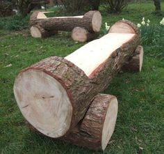 Schools/Playtime - Childrens Outdoor Seating & Tables Find Log Bench Solid wood carved tables, seats and benches designed for childrens playgrounds and schools. Fire Pit Party, Diy Fire Pit, Fire Pit Backyard, Outdoor Fire, Outdoor Seating, Log Chairs, Log Benches, Fire Pit With Rocks, Fire Pit Lighting
