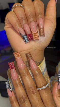 Acrylic Nails, Acrylics, Nail Inspo, Fun Nails, Nail Designs, Aries, Baddie, Pretty, Beauty