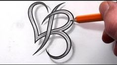 B and Heart Combined Together - Celtic Weave Style - Letter Tatt., Initial B and Heart Combined Together - Celtic Weave Style - Letter Tatt., Initial B and Heart Combined Together - Celtic Weave Style - Letter Tatt. Letter B Tattoo, Monogram Tattoo, Initial Tattoos, Tattoo Key, Tattoo Lettering Fonts, Lettering Design, Hand Lettering, Lettering Styles, Body Art Tattoos