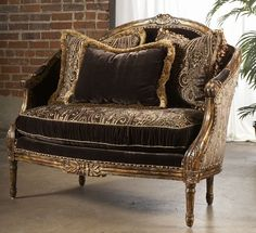 sofa, chair, leather, fabric, Luxury fine home furnishings Old World Furniture, Furniture Styles, Luxury Furniture, Home Furniture, Furniture Design, Gothic Furniture, High End Furniture Stores, High Quality Furniture, Luxury Chairs