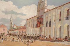 Leonie Matthis, Festividad del Glorioso San Martín de Tours, Patrono de la Ciudad de Buenos Aires, 1750 (c. 1925-1935) | Museo Histórico Brigadier General Cornelio de Saavedra