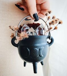 I'll also be restocking the Triple Moon Mini Cauldron during this evenings shop update ❤️ Along with all the new jewelry! Shop reopens at EST 🌹 Moving forward and feeling those winter vibes! Altar Particular, Triple Moon, Modern Witch, Witch Aesthetic, Aesthetic Art, Interstellar, Book Of Shadows, Hocus Pocus, Mini