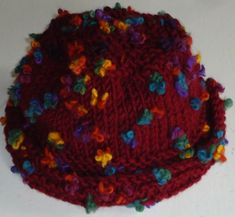 Knitting pattern for hat made in Alize Flower at The Knitting Wool Store-http://www.the-knitting-wool-store.com/knitting-pattern-hat.html