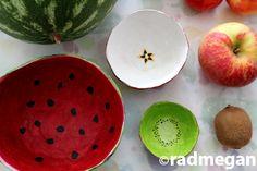 Cut Fruit Paper Maché Bowls for Kids Crafts 123 ... Radmegan