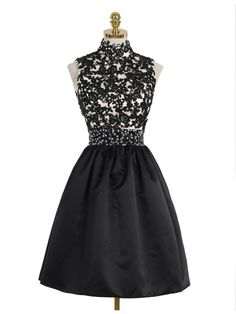 short homecoming dresses,black homecoming dresses,lace homecoming dresses,short prom dresses @SevenProm