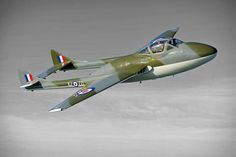 Own a piece of aviation history with this 1958 De Havilland Vampire T55 Jet. Originally commissioned by England's Royal Air Force in WWII, the Vampire was the first jet to land on an aircraft carrier, and also the first to...