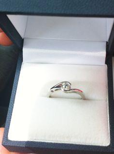 """VENUS"" Engagement ring.  White Gold. Diamond. Pink Tourmaline.  #Venus #Tourmaline #EngagementRing"