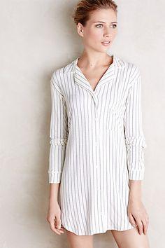 Eberjey Striped Sleep Shirt - anthropologie.com #eberjey #sleepwear