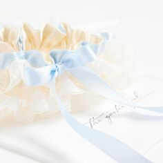 something blue and lace wedding garter for the bride - a hand made bridal garter from The Garter Girl