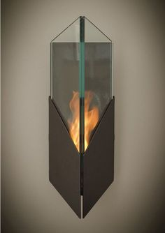 Pure Wall-Mounted Bio Ethanol Torch Fireplace