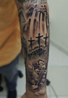 ilario tatuagem tattoo espirito santo, v… - Tattoo Designs Men Forarm Tattoos, God Tattoos, Badass Tattoos, Life Tattoos, Body Art Tattoos, Tattoos For Guys, Religious Tattoos For Men, Religious Tattoo Sleeves, Tattoo Sleeve Designs