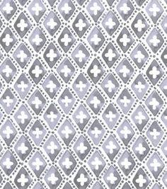 "Snuggle Flannel Fabric 42""-Gray Geometric"