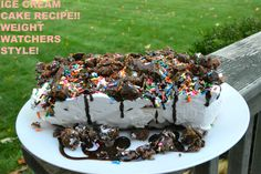 DELICIOUS AND EASY ICE CREAM CAKE RECIPE…WEIGHT WATCHERS FRIENDLY!!