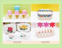 Create a Vintage Pink Kitchen with yay retro! - Retro, Vintage China, Glassware, Kitchenalia, fabrics and books - yay retro!