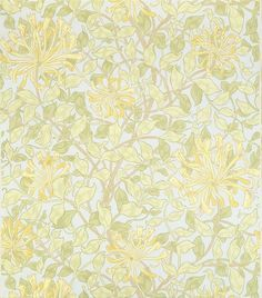 'Honeysuckle' wallpaper, designed by May Morris.
