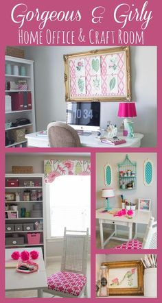 pink green girly organized ultimate home office craft room maekover, craft rooms, home decor, home office, organizing Craft Room Decor, Craft Room Storage, Room Organization, Craft Rooms, Home Decor, Craft Space, Office Storage, Diy Storage, Storage Ideas