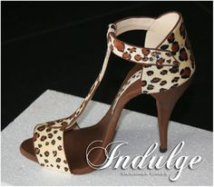 Hand made, hand painted stiletto shoe