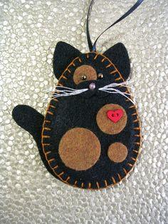 Cat Ornament Tortoiseshell Cat Ornament Tortie Cat Ornament $10.00