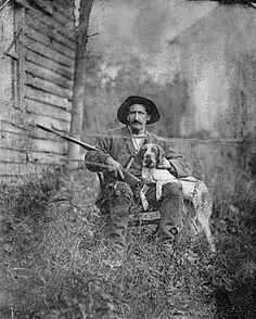 An old hunter and his dog in Mason County, Kentucky, 1890