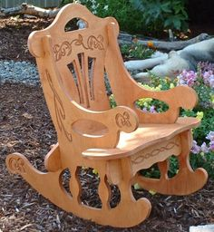 Victorian Style Puzzle Rocking Chair with FREE by Dixonwoodworking, $49.50