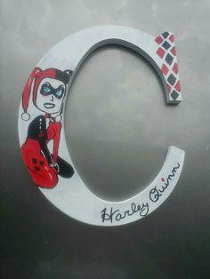 Harley Quinn letter by A & S Designs - www.facebook.com/aandsdesignsforyou