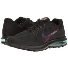 Nike Air Max Dynasty 2 BTS (Black/Black/Blustery/Clear Jade) Women's... ($90) ❤ liked on Polyvore featuring shoes, athletic shoes, nike athletic shoes, fleece-lined shoes, black athletic shoes, black shoes and nike shoes