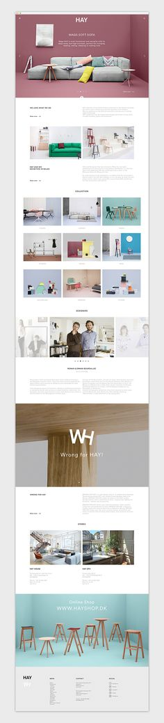 HAY on Behance #website #webdesign #design #web #internet #site #webdesigner #designer #layout #template #theme #pikock www.pikock.com #ui #ux