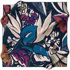 Aker A Psychedelic Rainforest Silk Twill Scarf - Purple Dream Pattern Art, Print Patterns, Iphone Wallpaper Fall, Designer Scarves, Scarf Jewelry, Scarf Design, Patterns In Nature, Silk Scarves, Psychedelic
