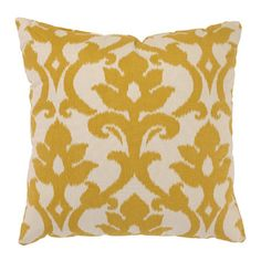 The Azzure Throw Pillow in Marigold has an oversized, modern damask print and gorgeous marigold color you'll love. With its reversible design. Buy Pillows, Toss Pillows, Decorative Throw Pillows, Accent Pillows, Pillow Storage, Bedroom Storage, Large Floor Pillows, Floor Cushions, Palette
