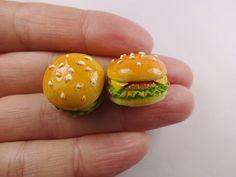 4pcs Kawaii resin hamburger cabochon for phone by SweetyDIY