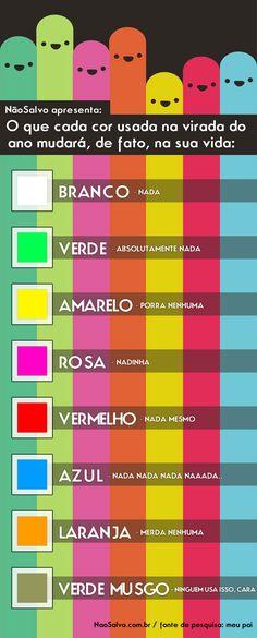 O que cada cor usada na virada do ano mudará, de fato, na sua vida: