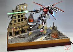 GUNDAM GUY: MG 1/100 MBF-02 Strike Rouge - Diorama Build w/ LEDs