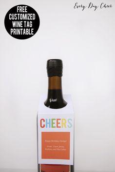 Free Customized Wine Tag Printable - http://jennycollier.com/wine-tag-printable/