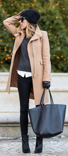 Camel Coat Outfits: Jacey Duprie is wearing a camel coat from Zara