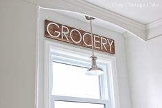 Cozy.Cottage.Cute.: DIY Grocery Sign