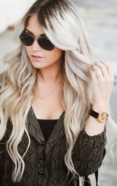 121 Best Blonde Hair Dark Roots Images Colorful Hair Hair Colors