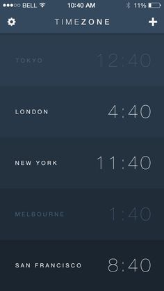Timezone App for iOS7 For awesome apps : http://goo.gl/yyghK1 #ios #apps #games