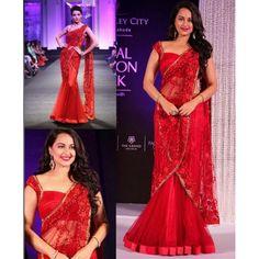 Bollywood Replica - Sonakshi Sinha Designer Red Net Lehenga 5027