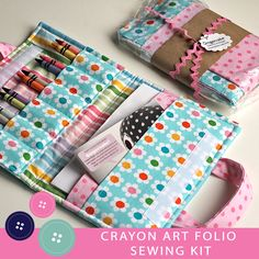 Want to make a Gingercake Crayon Folio but don't want to shop for fabrics and materials