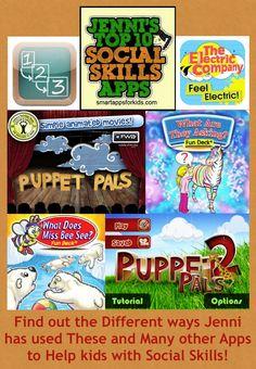 Jenni's Top Ten Social Skill Apps! http://www.smartappsforkids.com/2013/03/jennis-top-ten-list-of-social-skill-apps.html