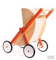 Wózek spacerowy, pomarańczowy | ZABAWKI \ Zabawki drewniane ZABAWKI \ Lalki, domki, wózki, mebelki \ Wózki dla lalek NA PREZENT \ Prezent uniwersalny NA PREZENT \ Prezent na chrzciny Bajo \ Odgrywanie ról | Hoplik.pl wyjątkowe zabawki