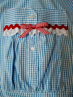 Apron made from a shirt, pocket made from the sleeve