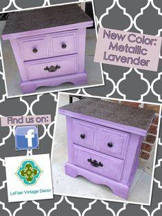 Metallic purple furniture!